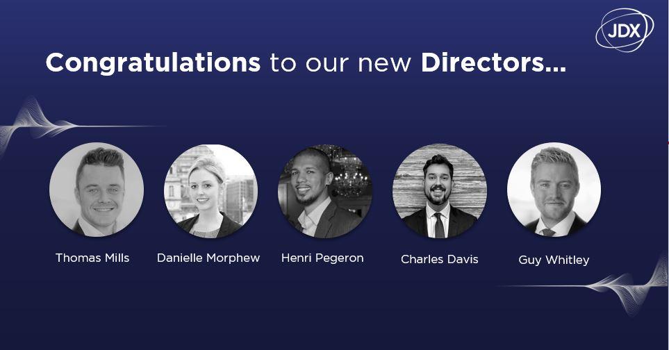 JDX Celebrates New Directors